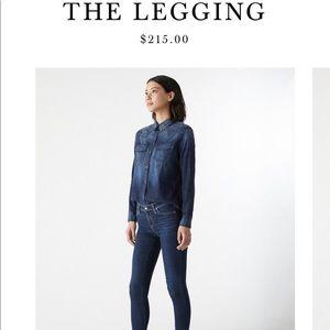 AG Super Skinny Legging Jeans.👖 Dark wash.